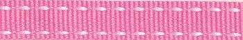 ribsband/ roze met witte rijgdraad