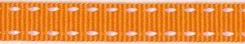 ribsband/ oranje met witte rijgdraad
