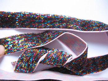 glitterelastiek multi 1,8 cm breed