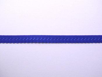 blauw omvouwelastiek met klein schulprandje op de vouw
