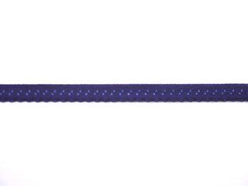 donkerblauw omvouwelastiek met klein schulprandje op de vouw