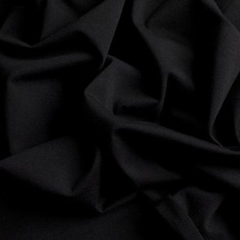 Gitte: tricot zwart/ 160cm breed