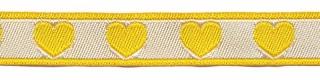 hartjesband geel