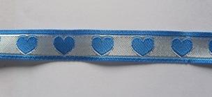 hartjesband blauw