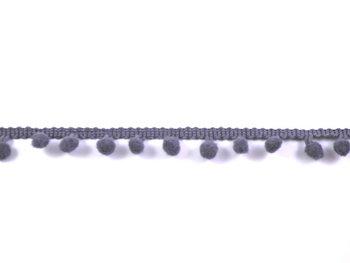 pomponband met kleine bolletjes, grijs