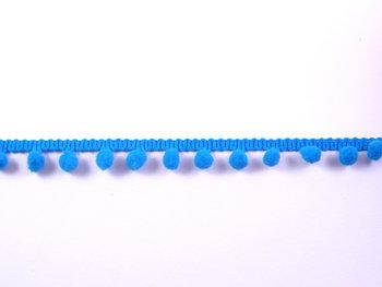 pomponband met kleine bolletjes, turquoise