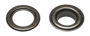 Zeilring/nestel 19 mm oud zilverkleurig