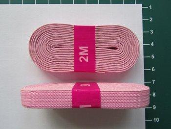 bosje elastiek 1 cm breed lichtroze