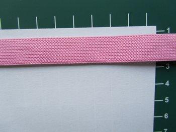 Elastiek 1,5 cm breed, lichtroze