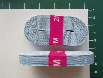 bosje elastiek 1 cm breed: lichtblauw