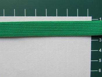 Elastiek 1,5 cm breed, groen