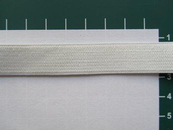 Elastiek 1,5 cm breed, gebroken wit