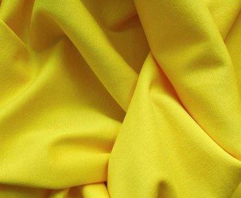 fijne boordstof geel/ 80 cm rondgebreid