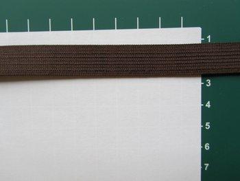 Elastiek 1,5 cm breed, bruin