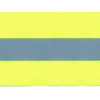 Fluoriserend geel band met reflectiestreep 50mm