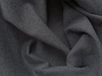 fijne boordstof grijs geméleerd