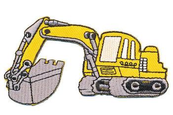 opstrijkbare applicatie: graafmachine geel