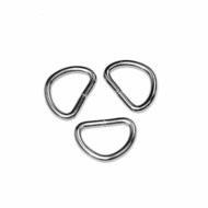 D-ring zilverkleurig metaal 20mm