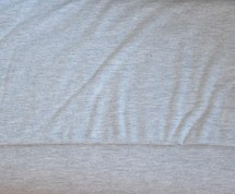 Gitte melange: tricot lichtgrijs gemêleerd / 160cm breed