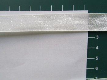 glitterband 15 mm, wit/ beetje doorzichtig zie foto