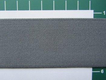 taille-elastiek 4 cm breed: effen grijs /HALVE METER
