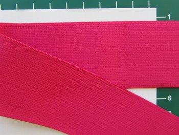 taille-elastiek 4 cm breed: effen fuchsia /HALVE METER