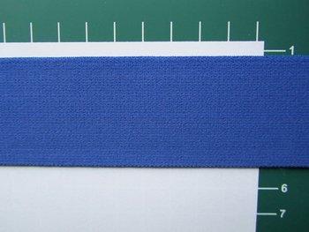 taille-elastiek 4 cm breed: effen blauw /HALVE METER