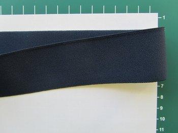 taille-elastiek 4 cm breed: donkerblauw /HALVE METER