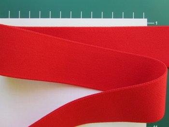 taille-elastiek 4 cm breed: rood /HALVE METER