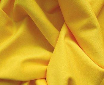 fijne boordstof geel/ 70 cm rondgebreid