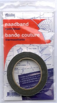 vlieseline naadband opstrijkbaar zwart