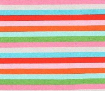 Gala: kleurenstrepen rood/roze/oranje/turquoise/groen