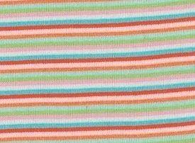 Anne, boordstof strepen:rood/roze/oranje/turquoise/groen