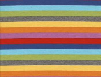 Gala: kleurenstrepen donkerblauw, rood,lila, oranje, geel, grijs, lichtgroen/turquoise