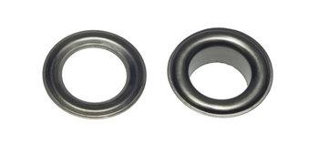 Zeilring/nestel 19 mm zilverkleurig