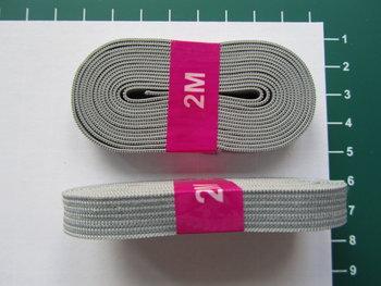 bosje elastiek 1 cm breed: lichtgrijs