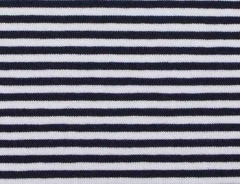Gitta: strepentricot donkerblauw/witte streep