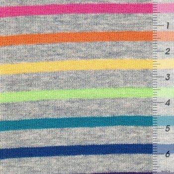 Gala: streepjes op grijze tricot