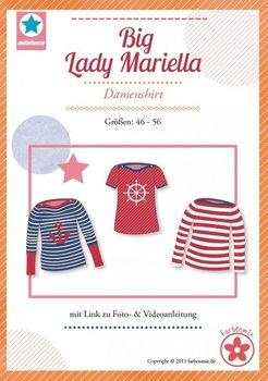 Big Lady Mariella/ patroon van een shirt met boothals in de maten 44, 46, 48, 50, 52, 54, 56