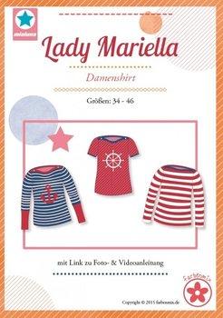 Lady Mariella/ patroon van een shirt met boothals in de maten 34, 36, 38, 40, 42, 44, 46