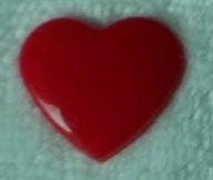 snaps donkerrood glanzend hartje, kleur 54