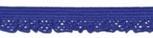 elastisch rucheband, blauw, smal