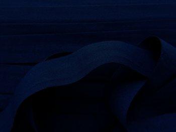 omvouwelastiek 2 cm diepdonkerblauw