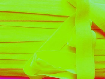 omvouwelastiek 2 cm neongeel