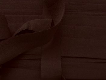 omvouwelastiek 2 cm diepdonkerbruin