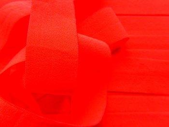 omvouwelastiek 2 cm neon-oranje