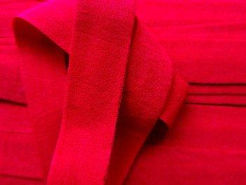 omvouwelastiek 2 cm warm rood