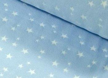 boordstof met geweven ster: lichtblauw