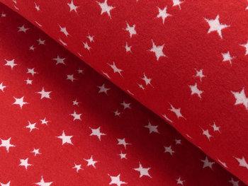 boordstof met geweven ster: rood