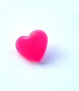 snaps hardroze glanzend hartje, kleur 47